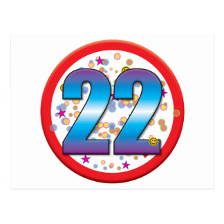 22do Cumpleaños v2 Tarjeta Postal