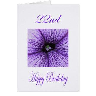 22do flor feliz de la púrpura del cumpleaños
