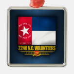 22do Infantería voluntaria de Carolina del Norte Adornos
