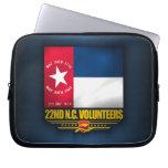 22do Infantería voluntaria de Carolina del Norte Manga Portátil
