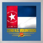 22do Infantería voluntaria de Carolina del Norte Impresiones