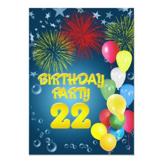 22do Invitación de la fiesta de cumpleaños con los