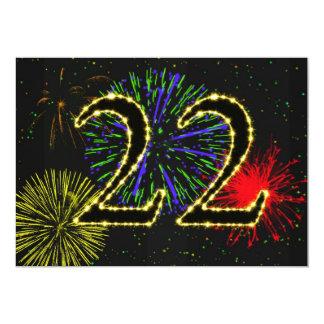 22do invitate de la fiesta de cumpleaños invitaciones personales