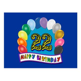 22do Regalos de cumpleaños con diseño clasificado  Postal