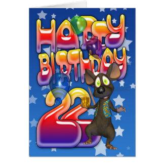 22do Tarjeta de cumpleaños, feliz cumpleaños
