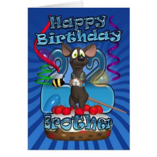 22do Tarjeta de cumpleaños para Brother - ratón en