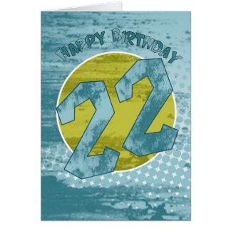 22do Tarjeta de cumpleaños - tarjeta de cumpleaños