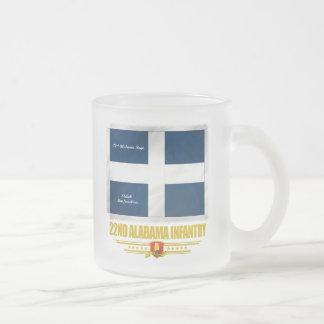 22nd Alabama Infantry Frosted Glass Coffee Mug