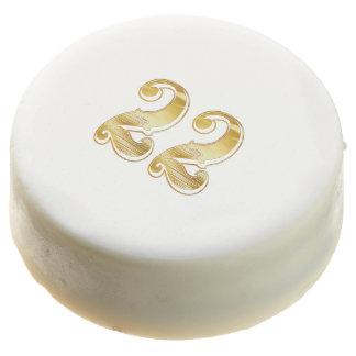 22nd Anniversary 22 Birthday Gold White Cookie