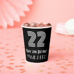 """[ Thumbnail: 22nd Birthday — Art Deco Inspired Look """"22"""" + Name ]"""