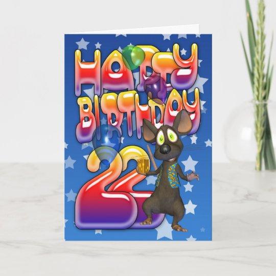22nd Birthday Card Happy