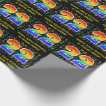 [ Thumbnail: 22nd Birthday: Colorful Music Symbols, Rainbow 22 Wrapping Paper ]