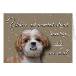 22nd Birthday Dog Card
