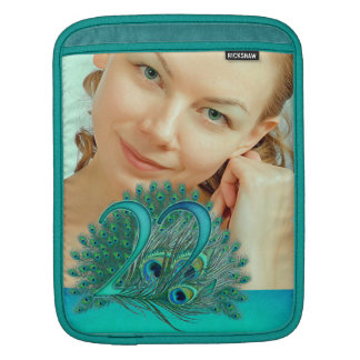22nd birthday elegant peacock feather photo sleeve sleeves for iPads