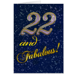 22nd birthday for someone Fabulous Card