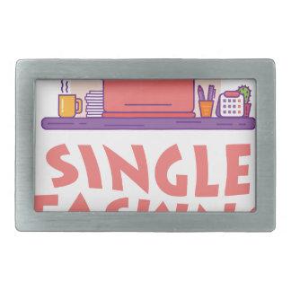 22nd February - Single Tasking Day Rectangular Belt Buckle