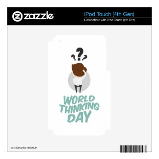 22nd February - World Thinking Day Decals For iPod Touch 4G