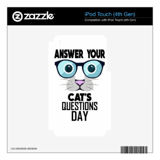 22nd January - Answer Your Cat's Questions Day iPod Touch 4G Decals