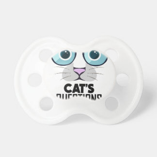 22nd January - Answer Your Cat's Questions Day Pacifier