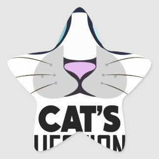 22nd January - Answer Your Cat's Questions Day Star Sticker