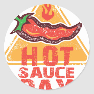 22nd January - Hot Sauce Day Classic Round Sticker