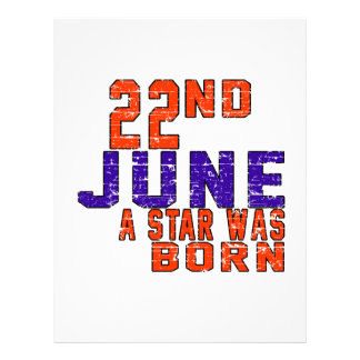 22nd June a star was born Personalized Letterhead