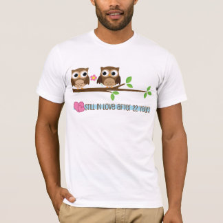 22nd Wedding Anniversary Owls T-Shirt