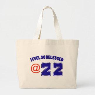 22o Diseño del cumpleaños Bolsa Tela Grande