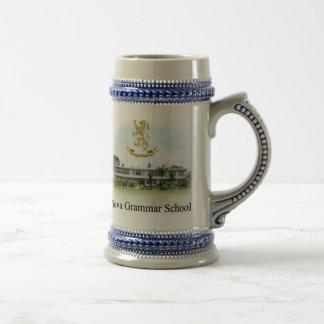 22oz cerveza Stein con el borde azul Taza De Café