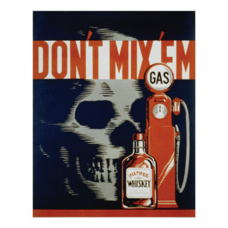 22x28 Drinking and Drivng Safety Poster, 1937 Poster