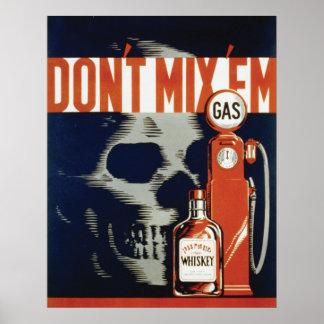 22x28 que bebe y seguridad Poster, 1937 de Drivng