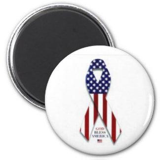 2300-5004_b~U-S-Flag-Ribbon-Posters Fridge Magnet