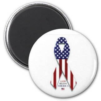 2300-5004_b~U-S-Flag-Ribbon-Posters 2 Inch Round Magnet