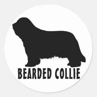 2315042007 Bearded Collie (Animal) Classic Round Sticker