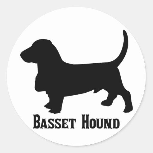 2315112006 Basset Hound (Animales) Pegatina Redonda