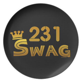 231 Area Code Swag Dinner Plate