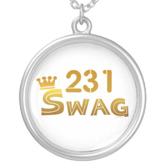 231 Michigan Swag Round Pendant Necklace