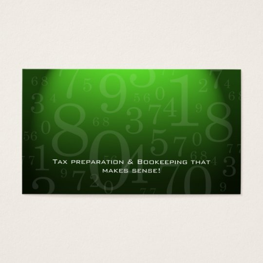 232 Accounting - Bookkeeping Business Card Green