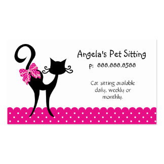 232 Animal Cat Sitter Business Card