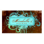 232 Grunge Glitter Salon Spa Brown Blue Double-Sided Standard Business Cards (Pack Of 100)