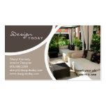 232 Interior Design Template Business Card Patio