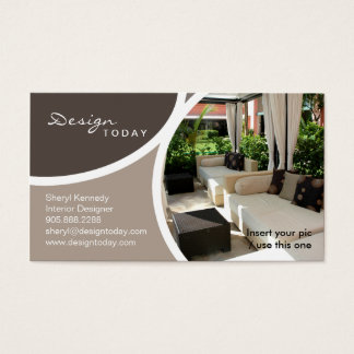 232 Interior Design Template Business Card Patio