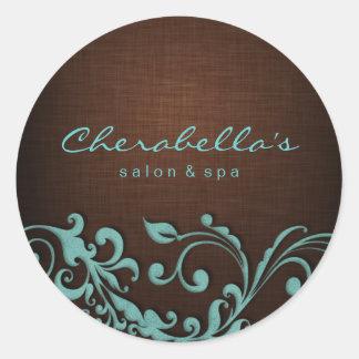 232 Linen Salon spa sticker blue brown