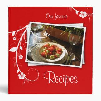 232 Recipe Binder Red Strawberries & Flowers