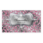 232 Sparkle Jewelry Zebra Classy Pink Double-Sided Standard Business Cards (Pack Of 100)