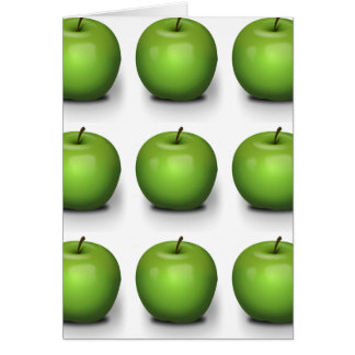 23392 PHOTO-REALISTIC GREEN APPLE GRAPHIC DIGITAL GREETING CARDS