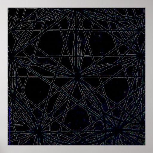 #2375b.SEED DE LA FLOR DE PHIVE/BLACK Poster
