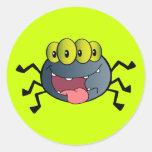 _2387-Happy-Spider-Cartoon-Character HAPPY CARTOON Classic Round Sticker