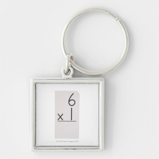 23972446 Silver-Colored SQUARE KEYCHAIN