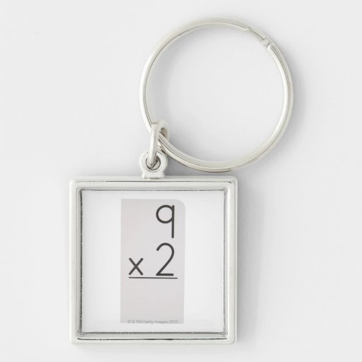 23972460 Silver-Colored SQUARE KEYCHAIN